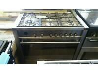 Smeg 90cm used once dual fuel range cooker