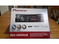 Pioneer deh-x8500dab radio with bluetooth