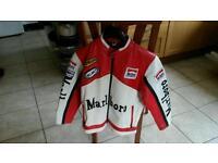 Vintage Marlboro Motorcycle Leather Jacket