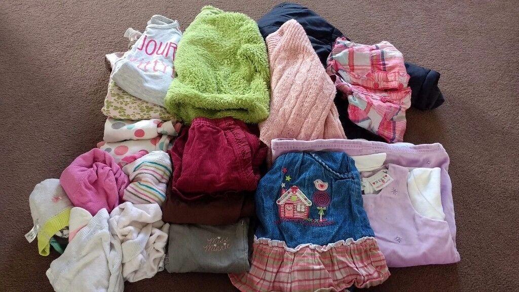 Bundle girls clothing 6-9 months