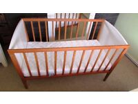 cotbed,with mattress,very clean