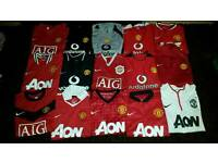Manchester United football shirts