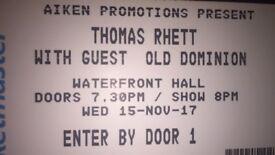 2x Thomas Rhett tickets standing 15th nov