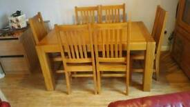 Dining table with 6 chairs plus matching dresser/cabinet