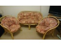 3 Piece Cane Conservatory Furniture