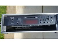 Tascam MD301 MkII, professional mini disc deck, with footswitch, remote and flight case. MDLP.