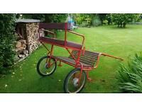 Pony trainer trap cart