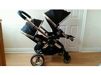 Icandy Peach 2 Double Pram With Extras