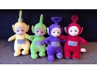 Teletubbies talking soft toy complete set