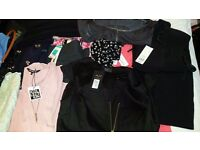 Ladies jeans, tops, dresses. Some items brand new with tags.