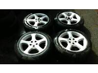 """16"""" 5x100 alloys with tyres"""