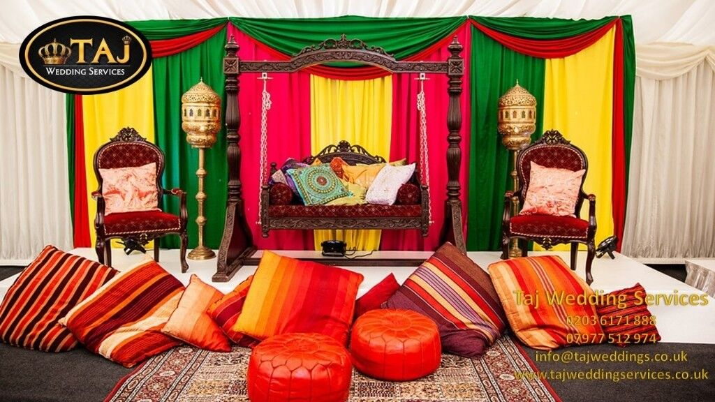Asian Indian Wedding Mehndi Stagesdecor Marquee Tent Hire Chair