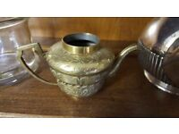 Small Brass Teapot with Leaf Pattern