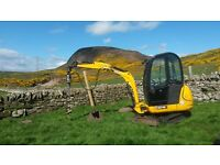 2 Tonne Mini Digger with operator for hire