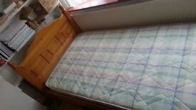 Single bed with mattress to sell