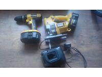 Dewalt hammer drill DC725 & Jig saw DW933 18V