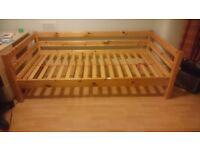 Flexa single bed frame, pine - suit child or teenager
