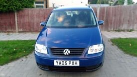 VW TOURAN 1.9TDI LEATHER COATED 7 SEATER FULL SERVICE HISTORY NEW CLUTCH FLYWHEEL NEW TURBO CAMBELT
