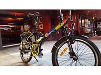 "Electric folding 20"" bike, refurbished stock"