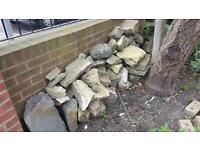 Rockery or pond stone