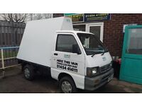 Bedford rascal super carry ad van advertising