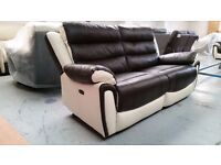 NEW ScS Fiesta Leather 3 Seater Power Recliner Sofa & Power Recliner Armchair CAN DELIVER