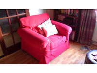 Big Red Lounge Armchair. BARGAIN !!!