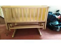Swinging baby crib hardly used