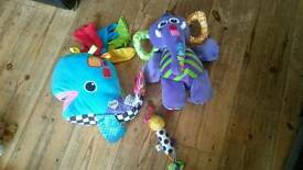 Lamaze toy bundle featuring Elephant, Whale and rattle