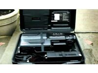 Panasonic M7 VHS Vintage Retro Camcorder - Brand New battery, case - need head cleaning