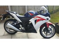 Honda CBR 250R, 2012 REG, Low Mileage 1788 miles, Excellent condition,