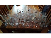 Large Collection of 41 Various Beer Ale Cider Glasses Pint Chalice Guinness