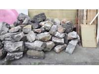 Dressed stone approximately 5 m2