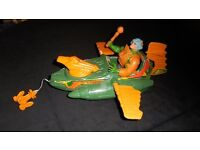 Vintage Masters of the Universe Wind Raider and Figure