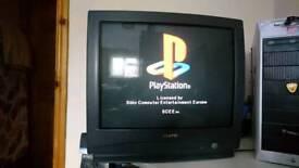 Sanyo CRT TV / Retro TV for PS1, SNES, Megadrive