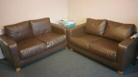 FREE!!Brown 2Seater Sofas MUST GO!!