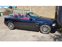 BMW M3 SMG Convertible, Carbon Black with red leather, very good condition. Hard top also available.