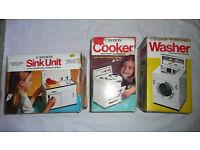 VINTAGE 'CASDON' Collectables - Cooker, Washer & Sink Unit