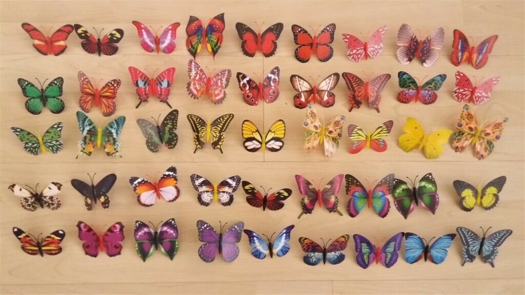 45x Butterfly 3d Home Decoration On Support Wire Stick Joblot Car Boot In Bolton Manchester Gumtree