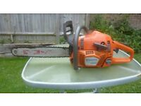 Husqvarna 346xp chainsaw bigger 50cc version excellent 160 psi compression