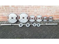 OLYMPIC WEIGHTS SET WITH 7FT BARBELL