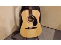 Fender FA-125 Natural Acoustic Guitar & Case For Sale - Collection Only.