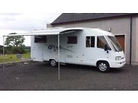 2006 Fiat Ducato Dethleffs I6611 4 Berth. Luxury family A-Class. Fixed twin single beds & double.