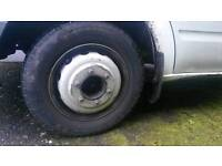 Transit tipper part worn wheels and tyres