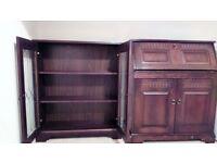 Matching bookcase and bureau