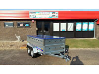 NEW CAR TRAILER TWIN AXLE TRAILER CAMPING TRAILER 8X4 FT