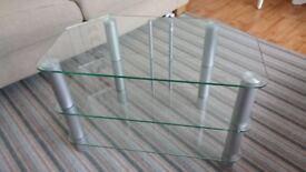 SERANO 3 tier Glass TV Stand