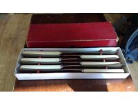 Sheffield stainless steel table knifes set of 6, around 4cm longer than normal