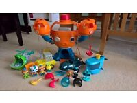 Octonauts bundle inc Octopod and 4 GUPs
