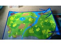 Big play mat for cars or trains
